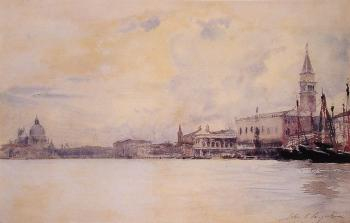 John Singer Sargent : The Entrance to the Grand Canal, Venice
